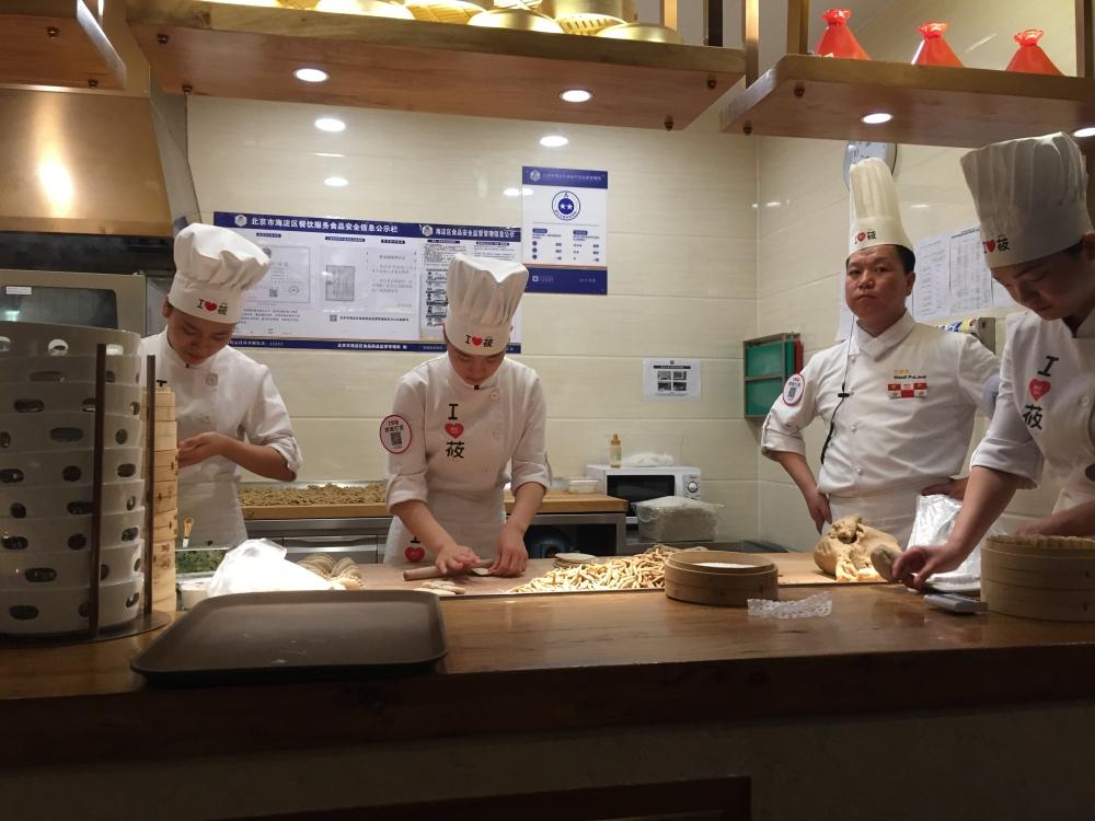 Comida sendo feita na hora - Pequim
