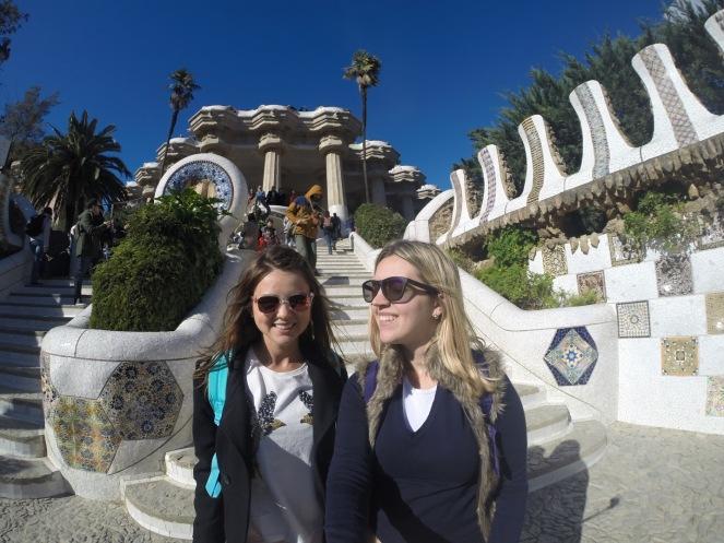 Parque Guell - Barcelona Escadarias