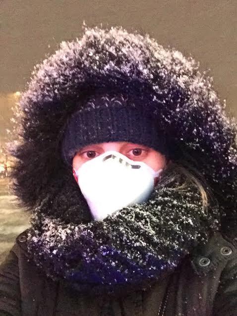 Máscara de filtro de ar em Pequim
