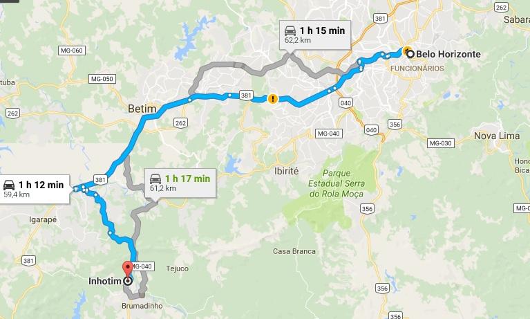 De Belo Horizonte a Inhotim