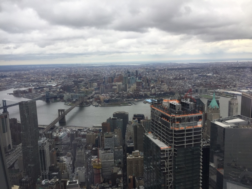 Vista da ponte do brooklyn em Nova Iorque