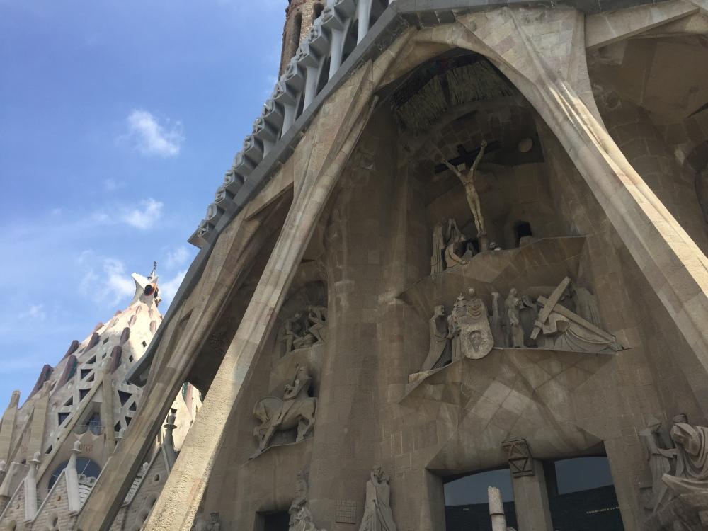 Parte externa da Sagrada Família, Barcelona