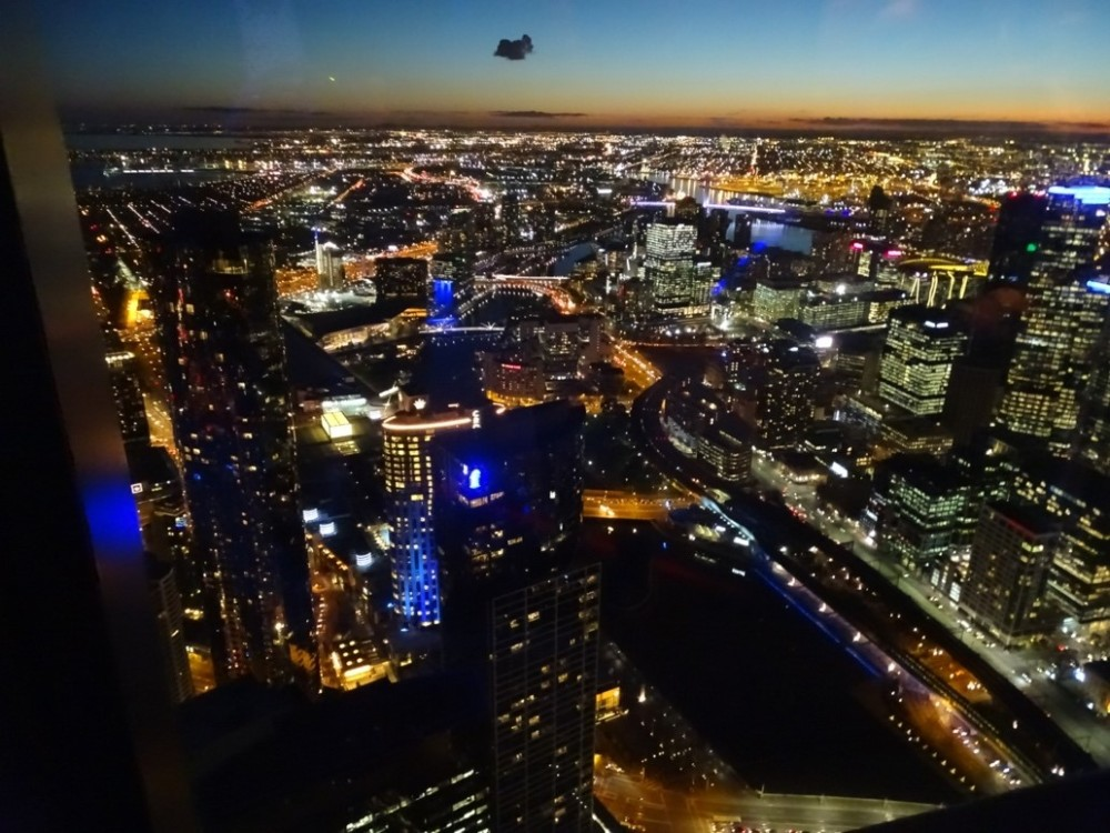 Vista panorâmica da cidade de Melbourne. Eureka Skydeck, Austrália
