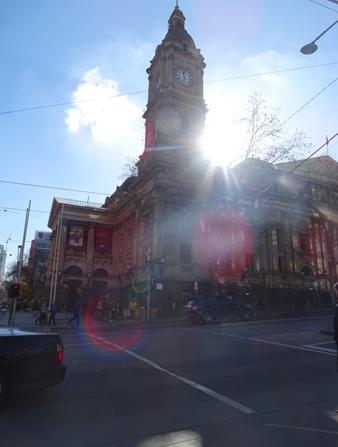 A prefeitura de Melbourne, Australia.
