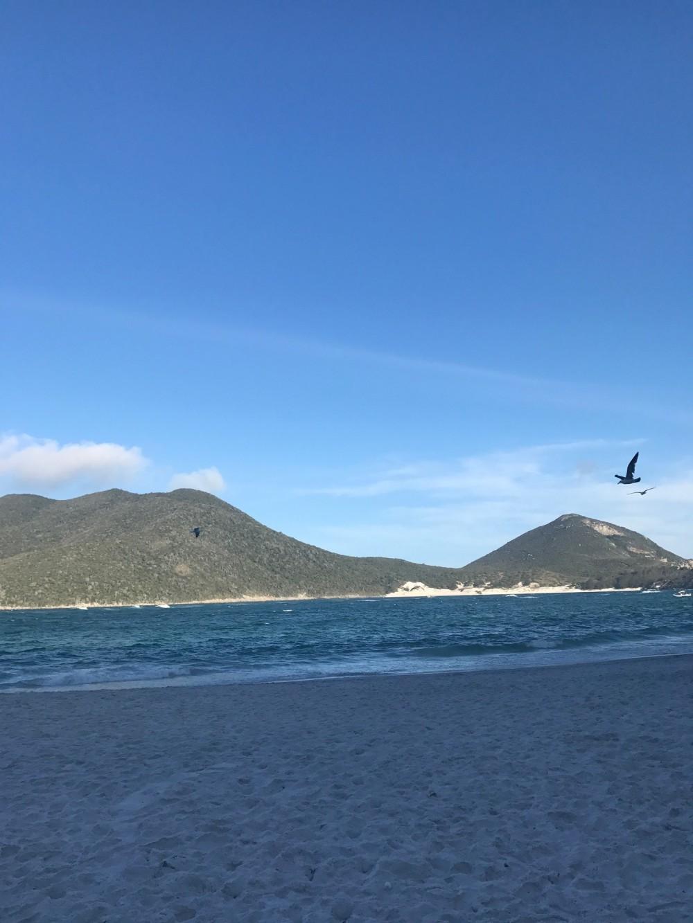Vista da praia do Pontal do Atalaia RJ