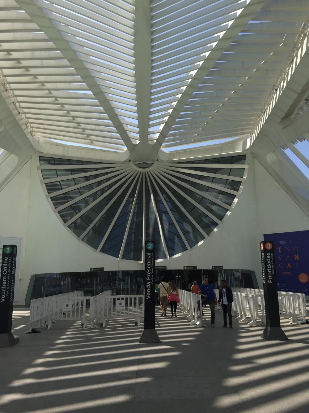 Entrada Museu do amanhã no rio de Janeiro