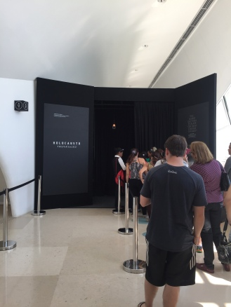Entrada para a sala da exposição