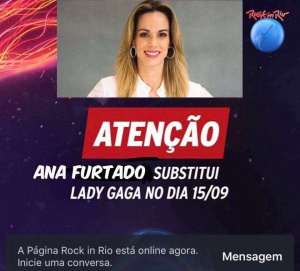 Substituição de Lady Gaga no Rock In RIo