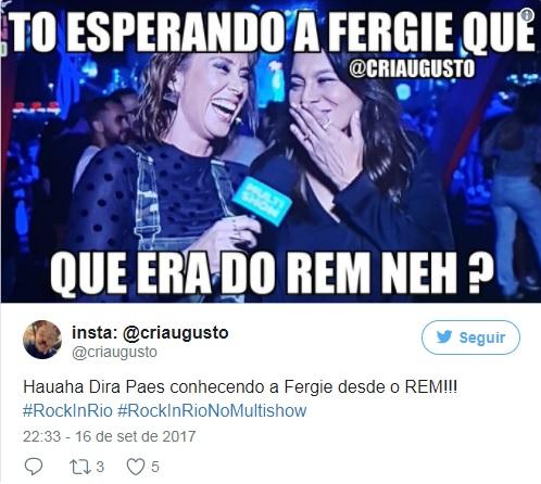 Dira Paes confunde Fergie e vira meme