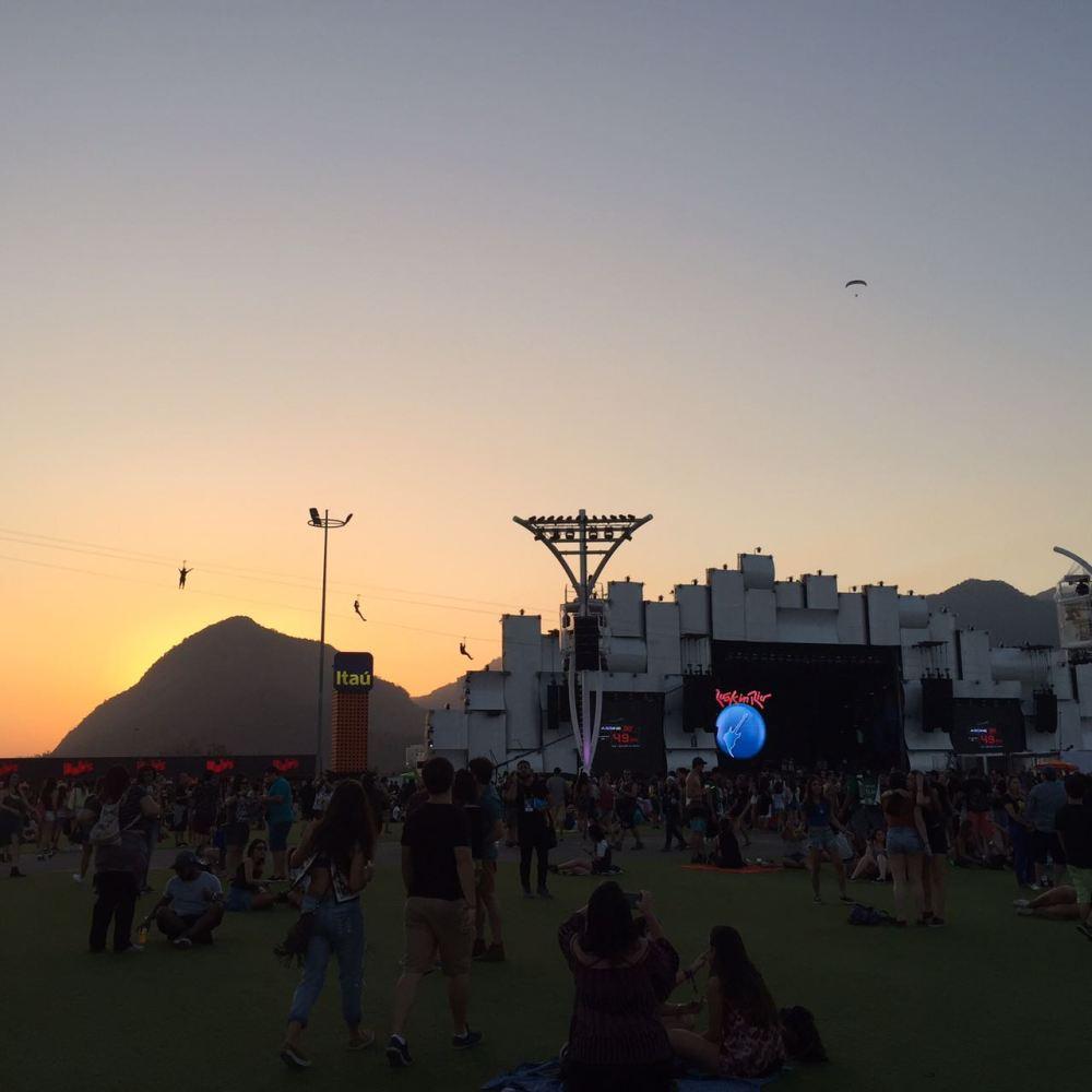 Rock In Rio e Pôr do sol
