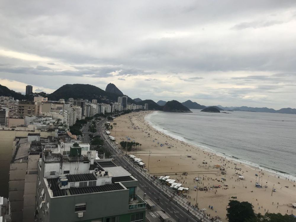 Vista do alto de Copacabana