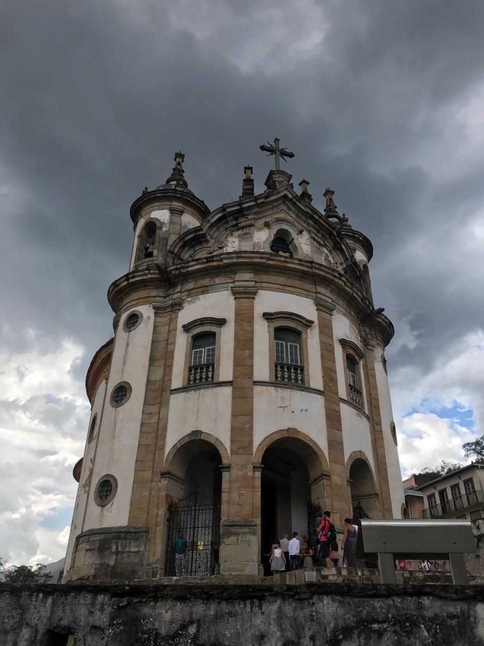 Igreja Barroca em Ouro Preto, feita por Aleijadinho
