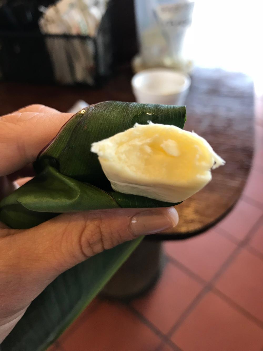 Queijo equatoriano feito pelos índios