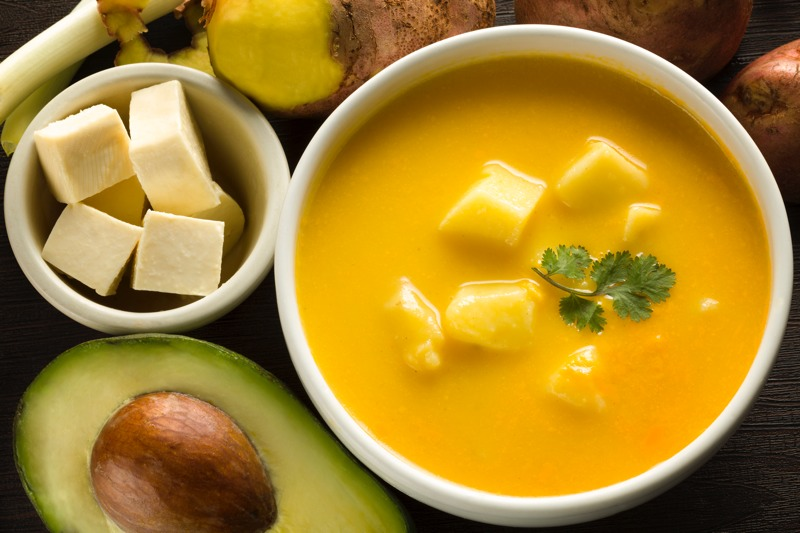 Locro de Papas, comidas do Equador