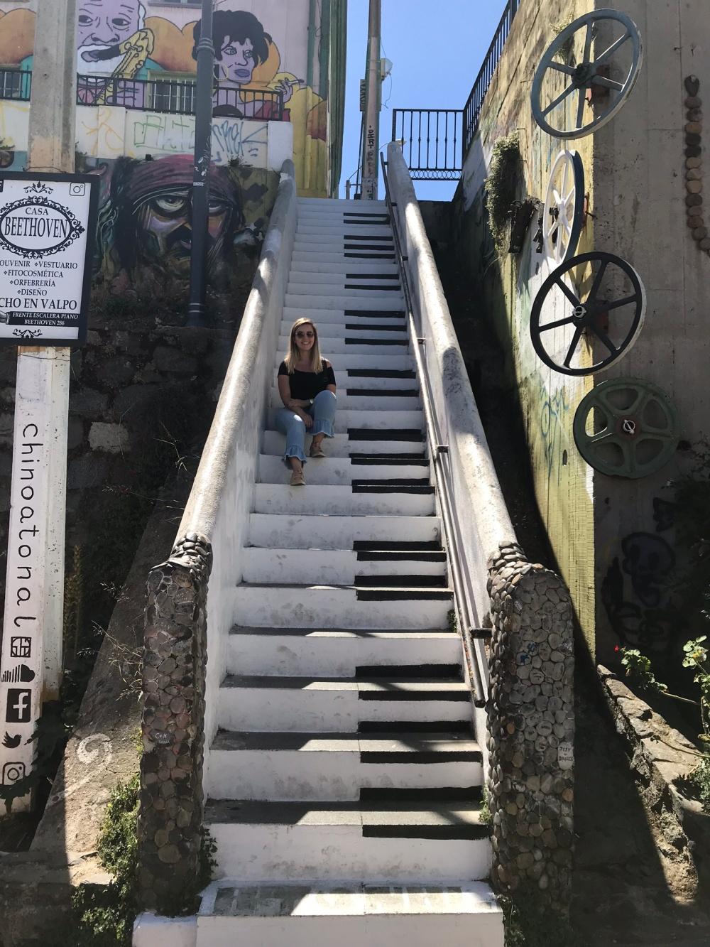 Escada de teclado no Chile, Valparaíso