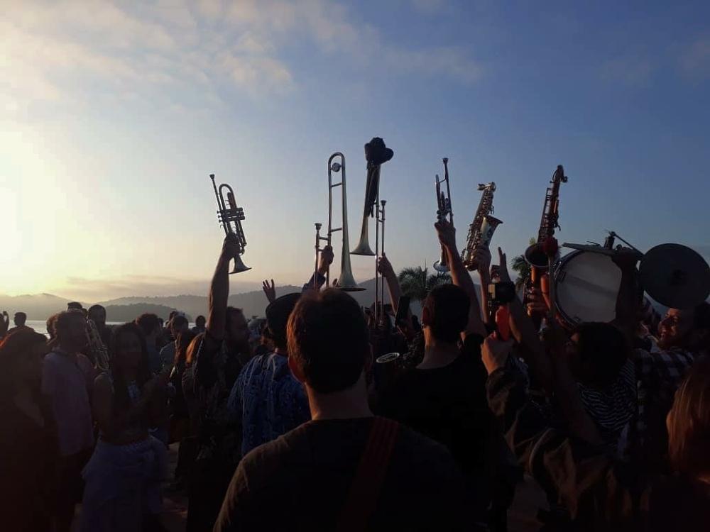 Músicos em Paraty no festival de jazz