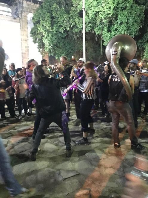 Músicos na praça principal de Paraty