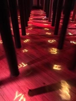 Tabela periódica no chão