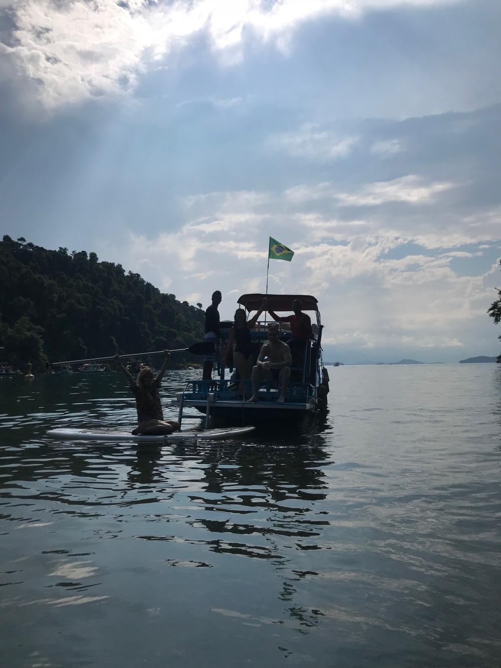 Barco das Viajandinhas na Praia do Jurumirim
