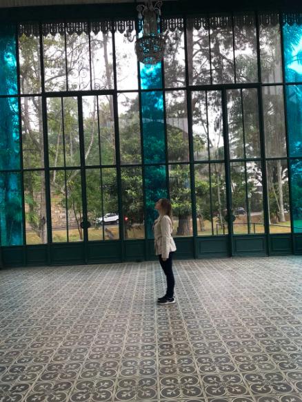 Vidros e interior do Palácio em Petrópolis