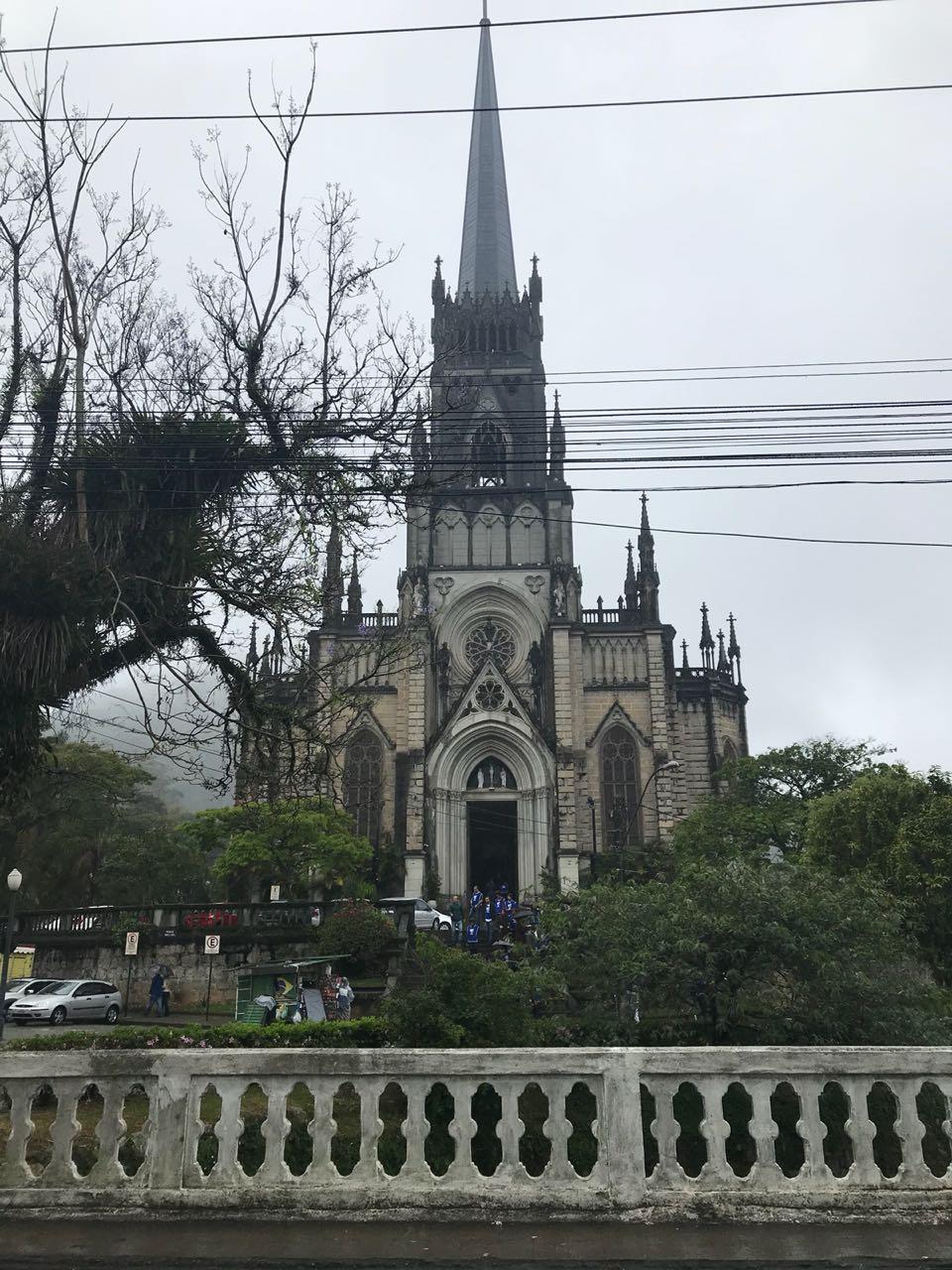 Catedral de Petrópolis vista da rua