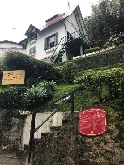 Fachada da casa do Santos Dumont