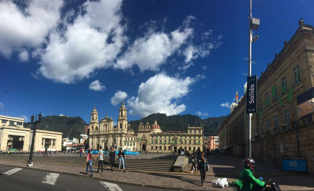 Praça Bolivar em Bogotá