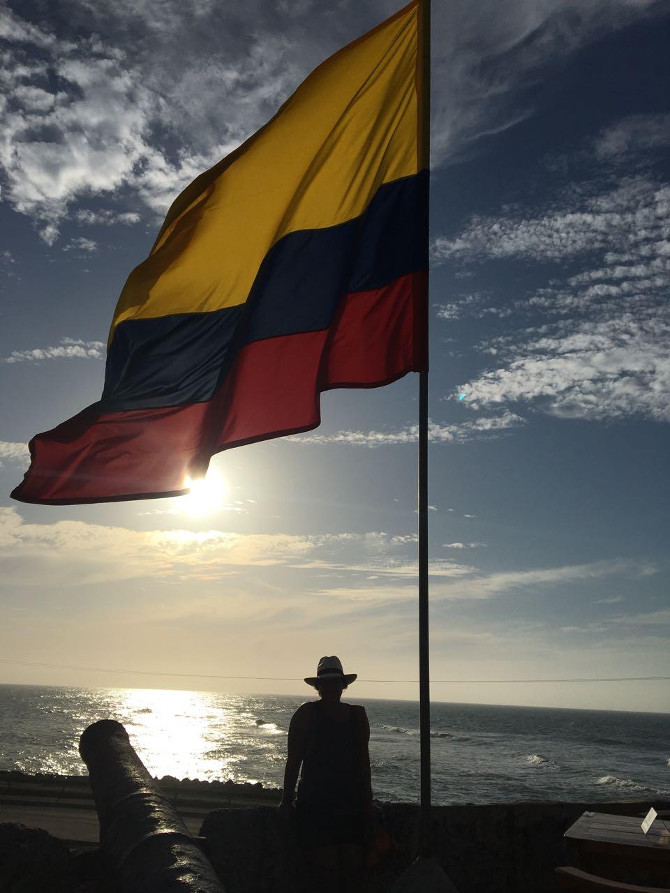 Bandeira da Colômbia em Cartagena