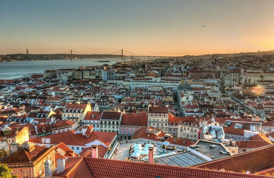 Vista de Lisboa e a ponte