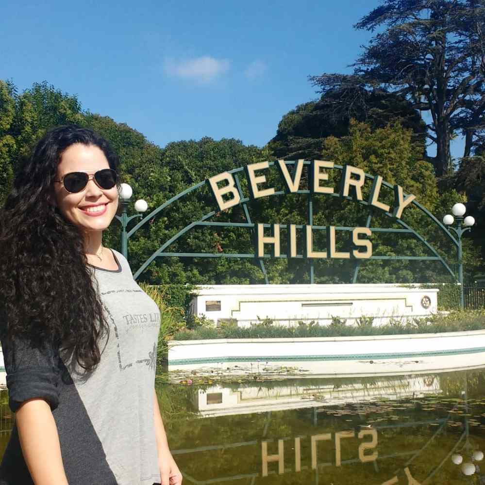 Beverly Hills em dia ensolarado