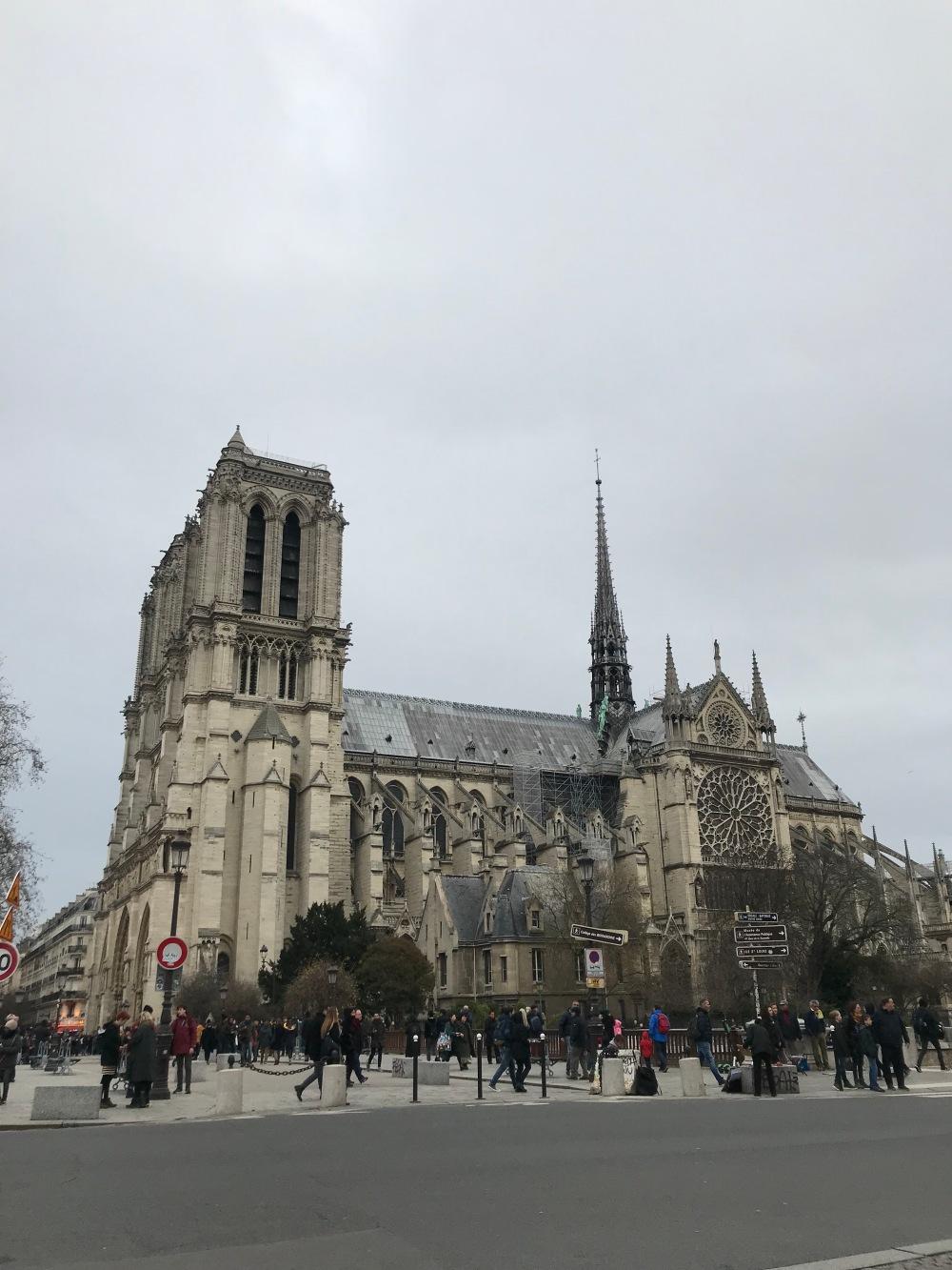 Exterior da Notre Dame de Paris