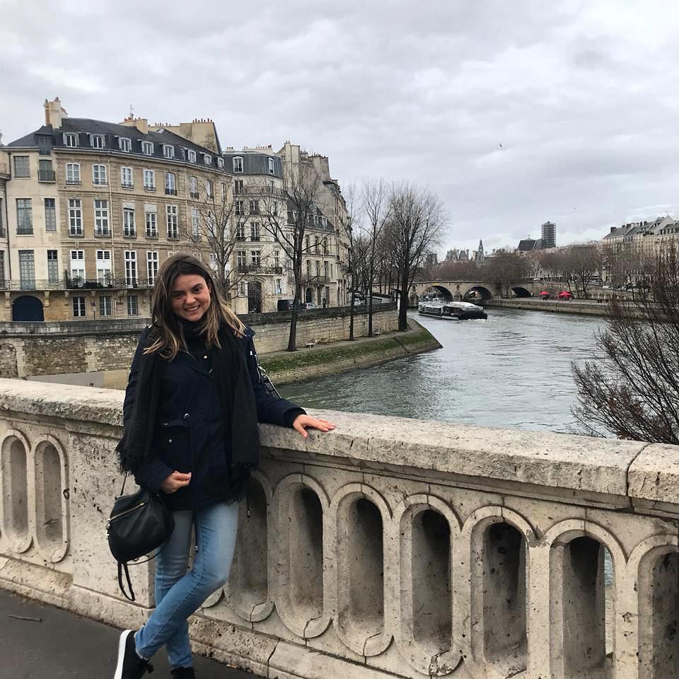 Rio Sena em Paris e ponte
