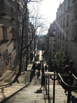 Caminho para a basilica de Sacre Coeur