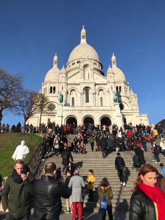 Basílica de Sacré Cœur em Paris entrada