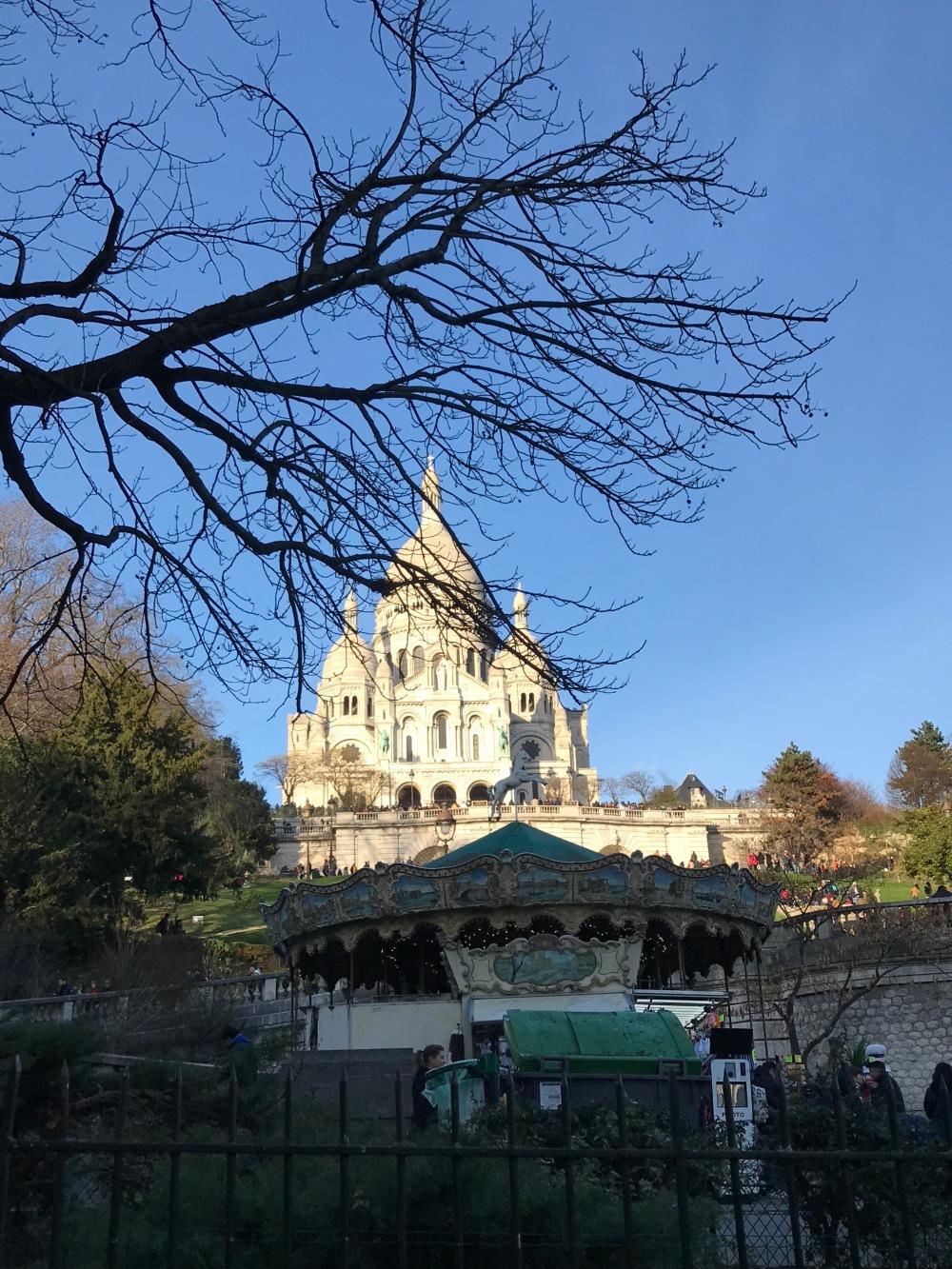 Basílica de Sacré Cœur em Paris no inverno