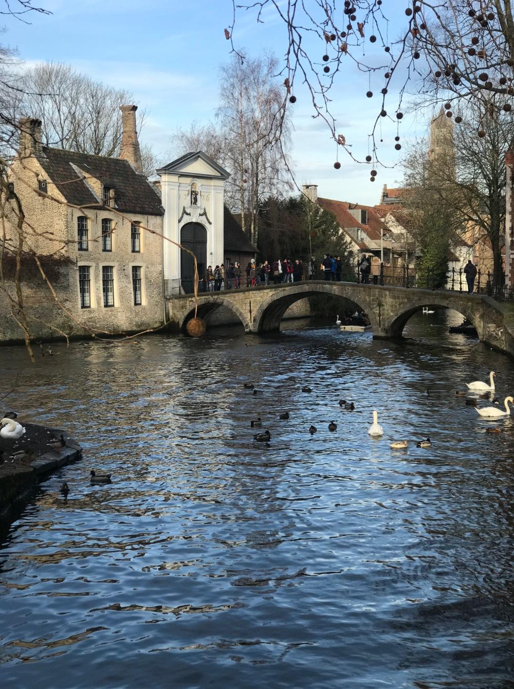 Ponte principal em Bruges