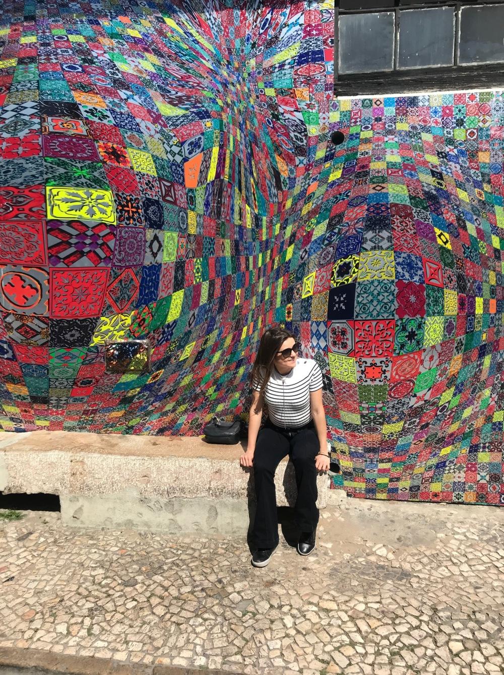 Parede de Ilusão de Ótica em Lisboa
