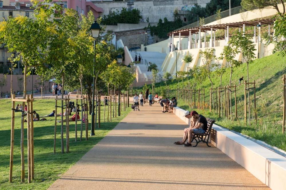 Jardim da Cerca da Graça em Lisboa