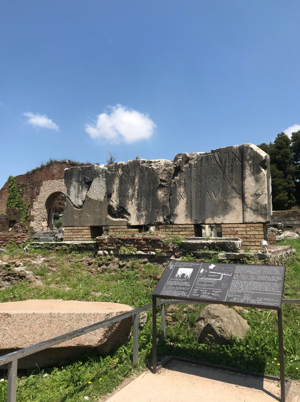 Primeiro impacto do Fórum Romano
