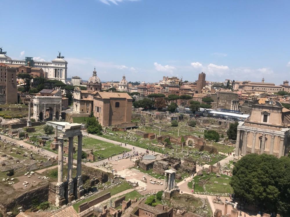 Foram Romano visto de cima pelas Viajandinhas