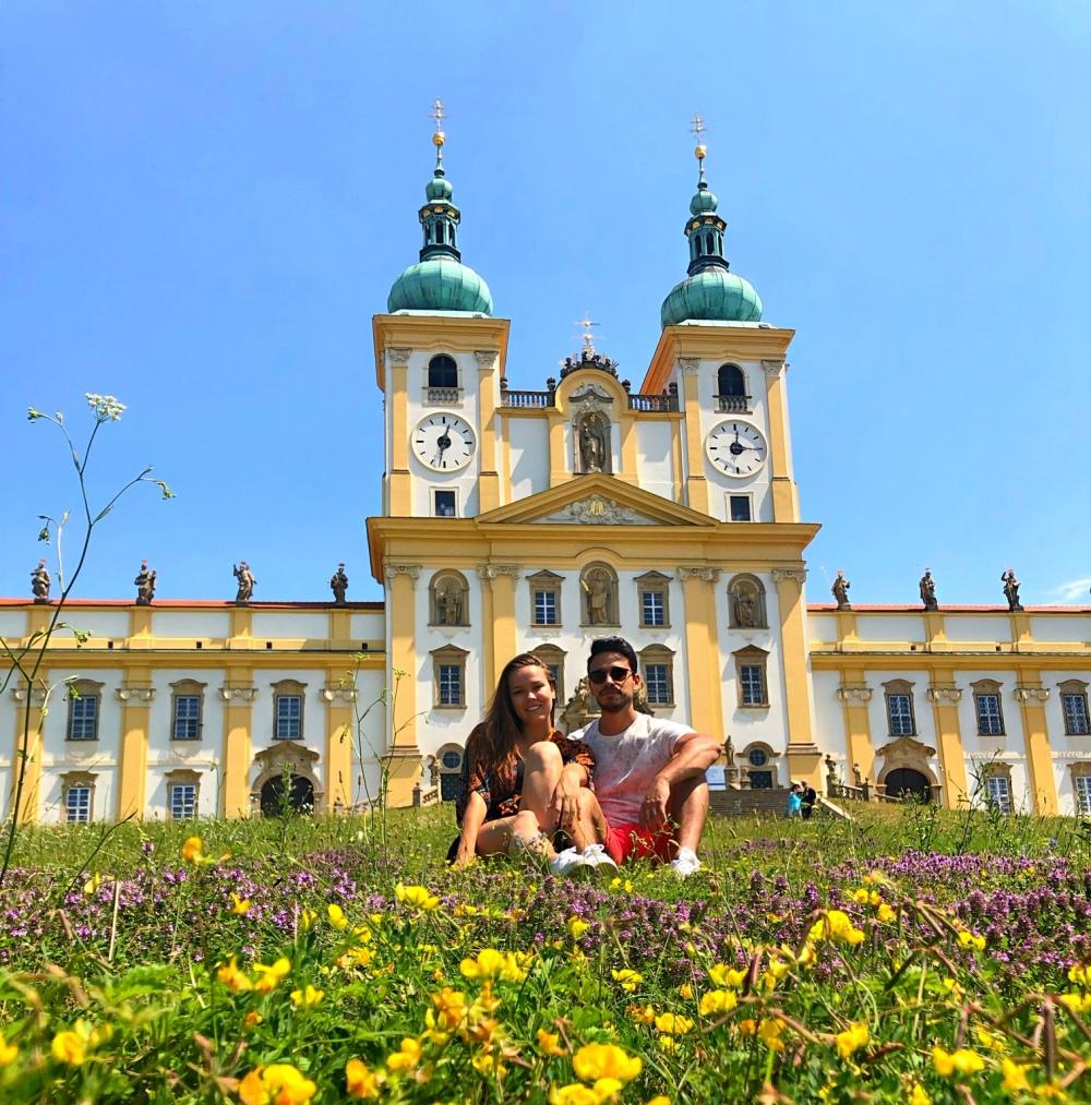 Monastério de Svaty Kopecek localizado a 10km do cento de Olomouc